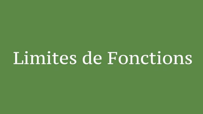 Limites de Fonctions ( Cours et Exercices )