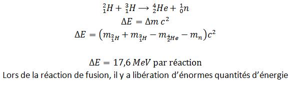 Réaction de fusion