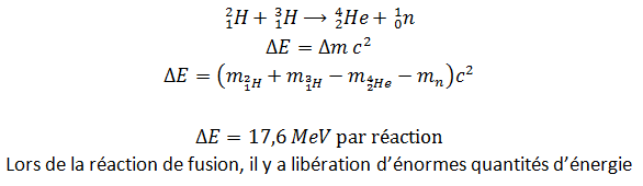 Réaction de fusion