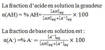 fraction acide base