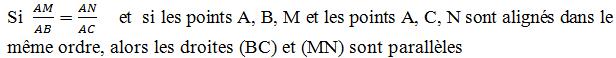 BC et MN parallèles